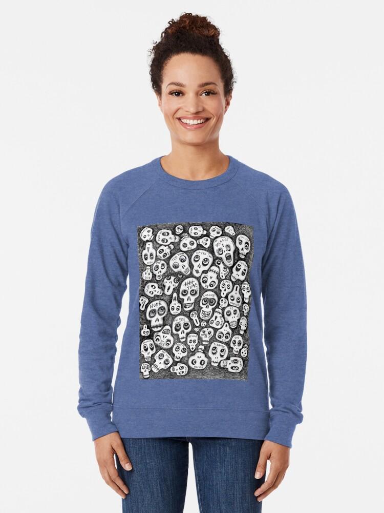 Alternate view of The Skull People Lightweight Sweatshirt