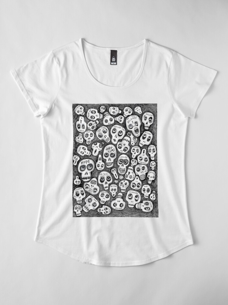 Alternate view of The Skull People Premium Scoop T-Shirt