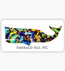 Emerald Isle Whale Sticker