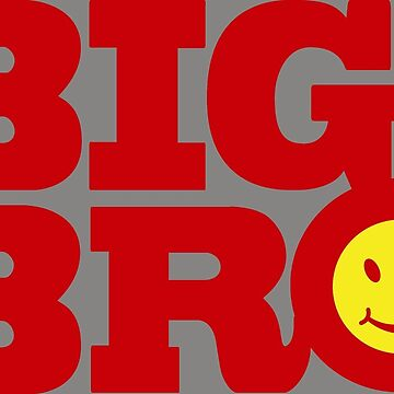 Red big bro text graphic  by sarahtrett