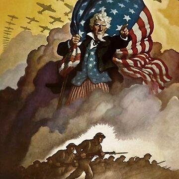"""Uncle Sam WWII Propaganda """"Buy War Bonds"""" by IKET"""