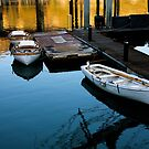 Moored Boats At Sunset by Ray4cam