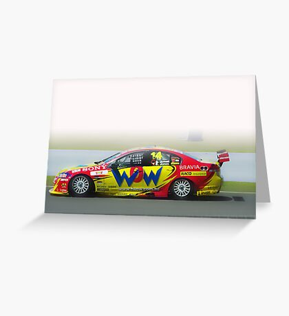 14- V8 supercar Bathurst Greeting Card