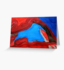Arch Rock original painting Greeting Card