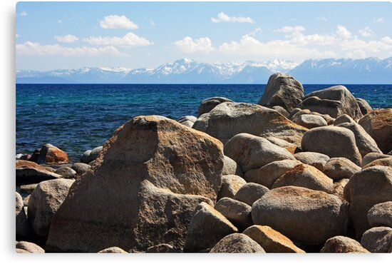 Boulders at Lake Tahoe - Nevada by Julia Washburn