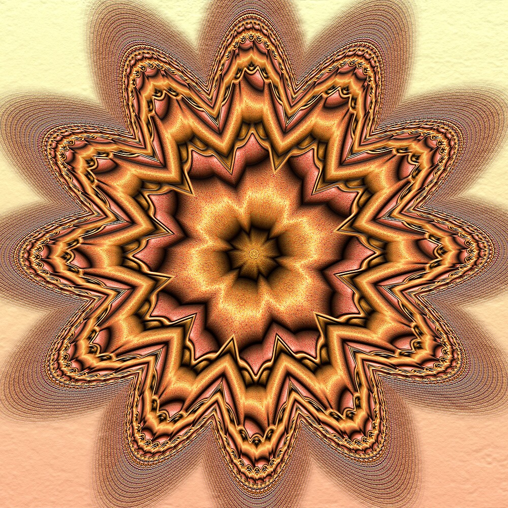 Fractal Lotus  by Hugh Fathers