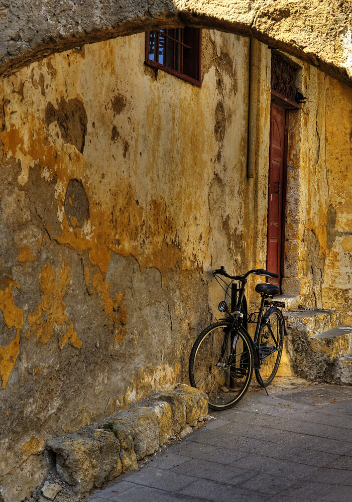 Bicycle in Alleyway - Old Town Rhodes by EvergreenImp