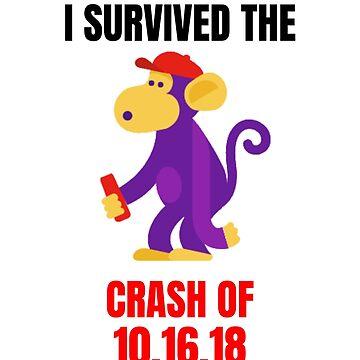 I Survived The Crash of 10.16.18 Sticker by Brasil365
