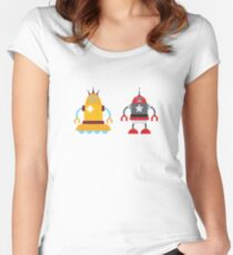 robot love in color Women's Fitted Scoop T-Shirt