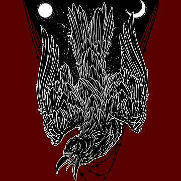 Esoteric Raven, Symbols, Signs, Moon Phases, New Age, Alchemy, Magick, Wiccan, Pagan, Heathen, Astrology, Witchery, Elemental, sigils, sigil, Norse, Viking, Runes  by manbird