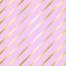 Lilac and Gold Diagonal Lines by GrumpyBoobsArt