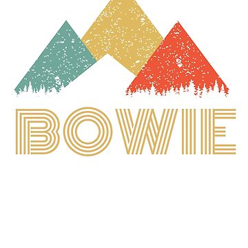 Retro City of Bowie Mountain Shirt by tedmcory