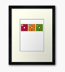 floppy color Framed Print