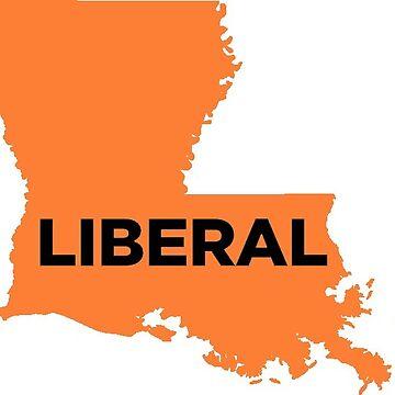 Liberal  Louisiana - orange by wokesouth