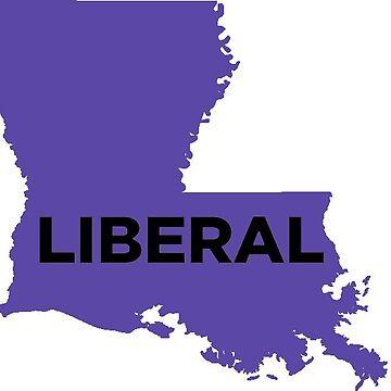 Liberal  Louisiana - purple by wokesouth