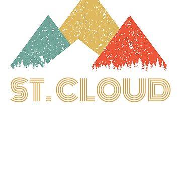 Retro City of St. Cloud Mountain Shirt by tedmcory