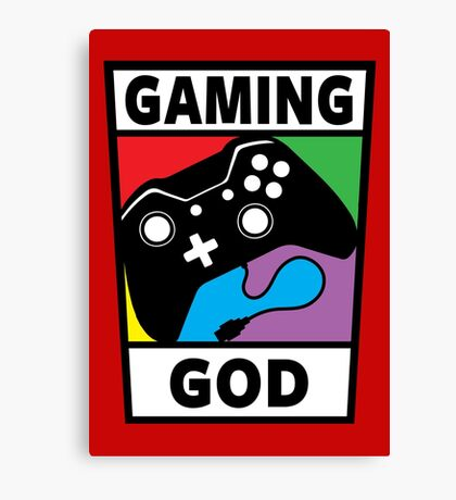 Gaming God Canvas Print