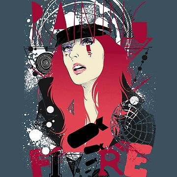 Punk, Goth Chick, Raining Fire Woman, Bombs, Red Head, Punk Rock Girl, ink Girl, Metal, Rock, Abstract Thrash Metal, Boho Shirts by manbird