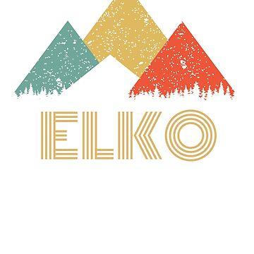 Retro City of Elko Mountain Shirt by tedmcory