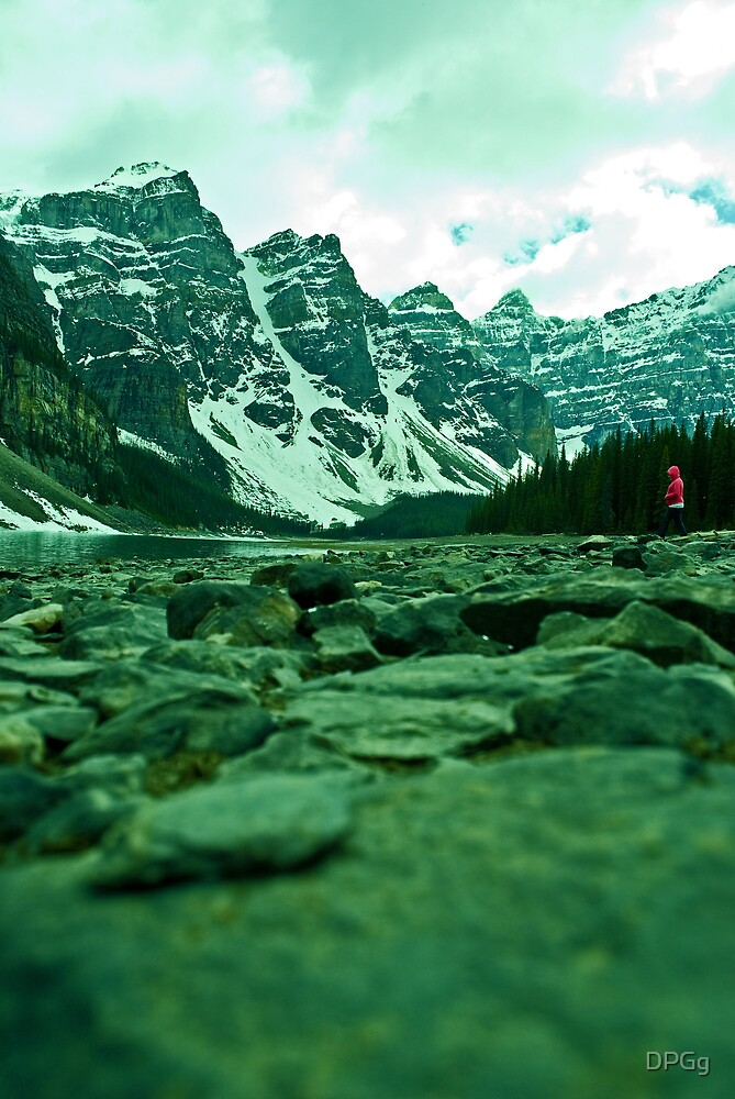 Laying on My Lake Bed - Moraine Lake, Alberta by DPGg