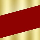 Velvet Red and Gold Diagonal Color Block by GrumpyBoobsArt