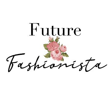 Future Fashionista Artistic Flower Paint Women Fashion Gifts by treasures83