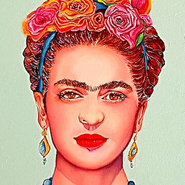 "Frida Kahlo - ""Crown of flowers"" by ArtbyCPolidano"