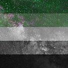 Aromantische Galaxie-Flagge von Ash Tomb