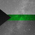 Demiromantische Galaxie-Flagge von Ash Tomb