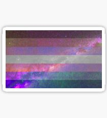 Bigender-Galaxie-Flagge Sticker