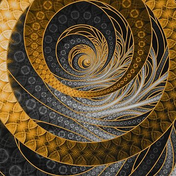 Banded Dragon Scales of Black, Gold, and Yellow by jayaprime