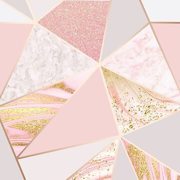 Rose Gold Trending Marble by Tetete