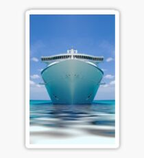 cruise ship IV Sticker