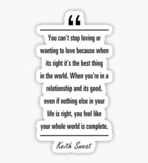 keith sweat love quotes