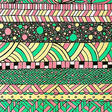 NYC colourful folk abstract pattern illustration by marianabeldi
