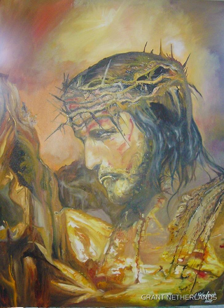 Jesus In pray by GRANT NETHERLANDS