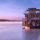 Captain Proud on Misty Sunrise  by Mark Richards