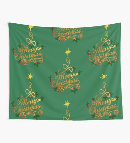 Christmas Greetings  Wall Tapestry