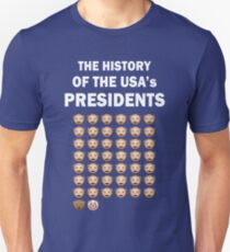 The History of The USA Presidents Emoji Style Unisex T-Shirt