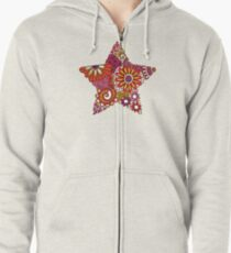 Bright Star Doodle Zipped Hoodie