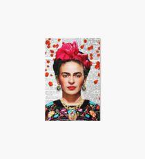 Frida Kahlo Blumenpapier Galeriedruck