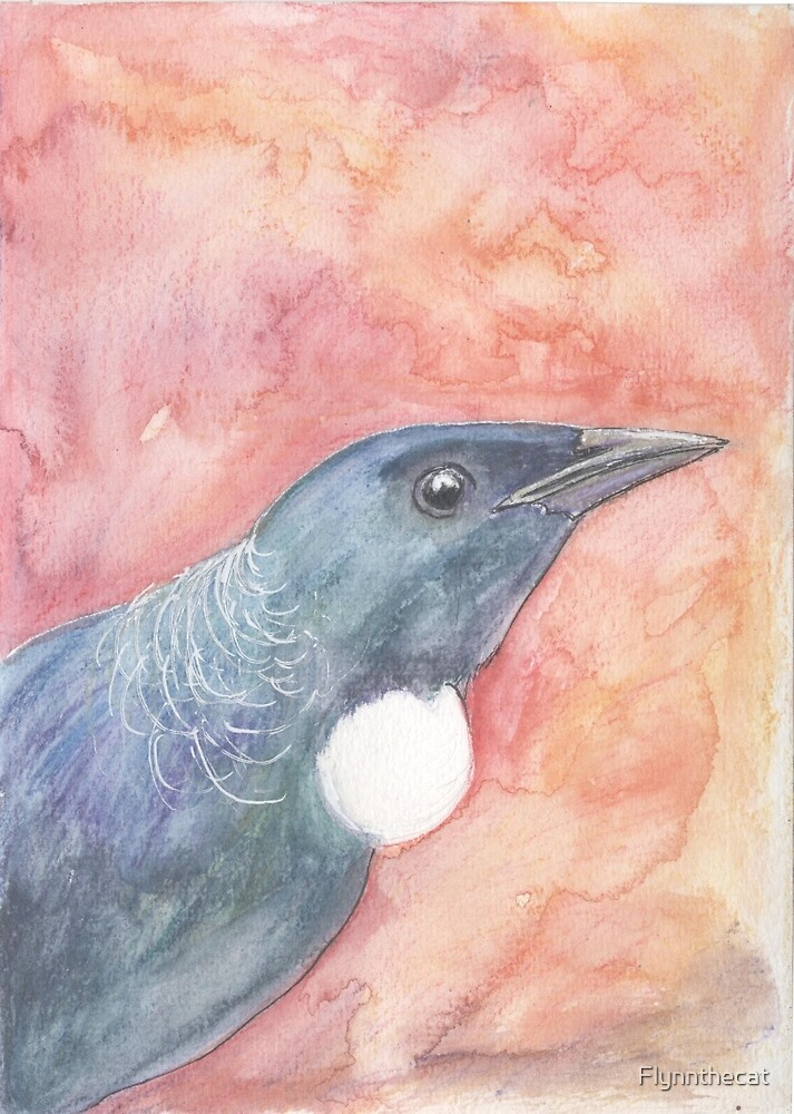 Watercolour Tui by Flynnthecat