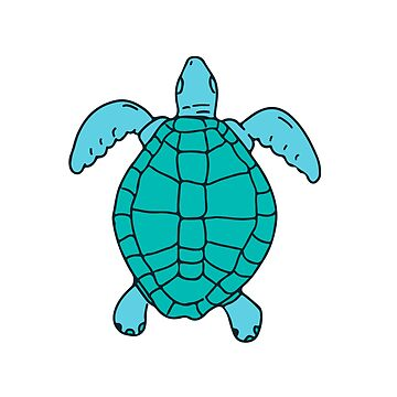 Sea Turtle Swimming Drawing by patrimonio