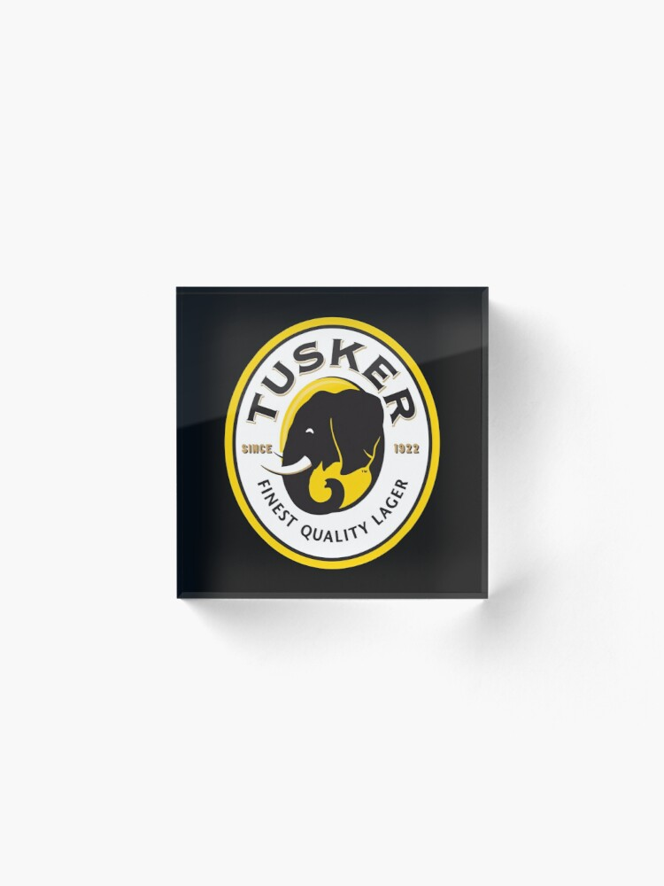 Alternate view of Tusker Lager Logo Acrylic Block