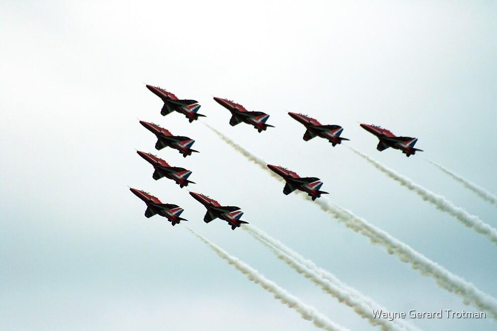 RAF Aerobatic Team by Wayne Gerard Trotman