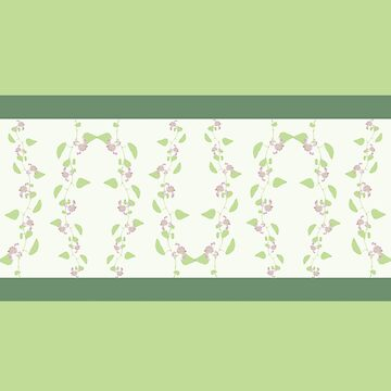 Sage green floral pattern by hellcom