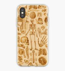 Human Anatomy Tan Print iPhone Case