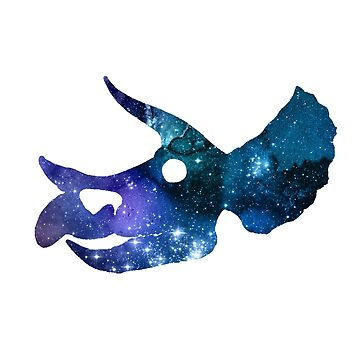 Artistic Dinosaur Skull Silhouette by GwendolynFrost