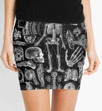 Human Anatomy Black Print Mini Skirt