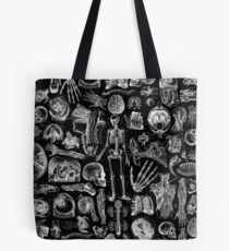Human Anatomy Black Print Tote Bag